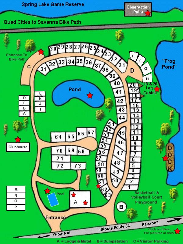 Campsite Map | Seven Eagles RV Park&Campground